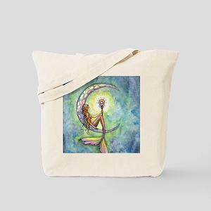 mermaid moon 9 x 12 cp Tote Bag