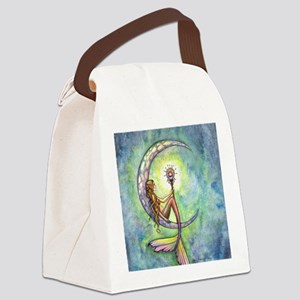 mermaid moon 9 x 12 cp Canvas Lunch Bag