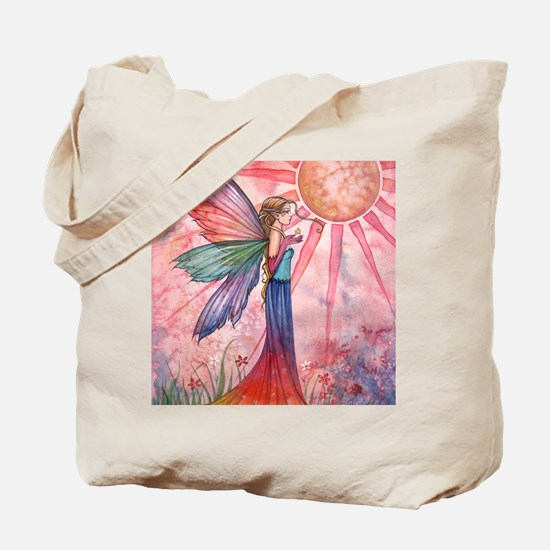 sunshine and rainbow 9 x 12 cp Tote Bag