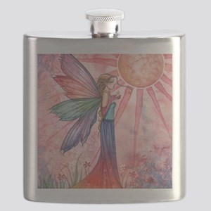 sunshine and rainbow 9 x 12 cp Flask