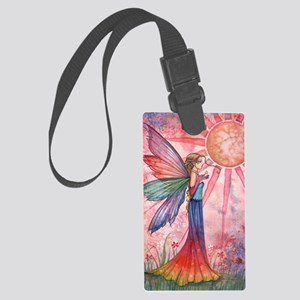 sunshine and rainbow 9 x 12 cp Large Luggage Tag