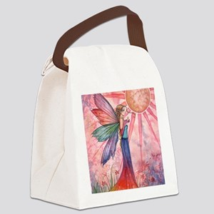 sunshine and rainbow 9 x 12 cp Canvas Lunch Bag