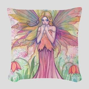 wildflower 9 x 12 cp Woven Throw Pillow