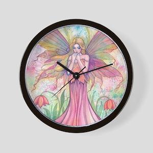 wildflower 9 x 12 cp Wall Clock