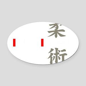 jj white Oval Car Magnet