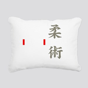 jj white Rectangular Canvas Pillow