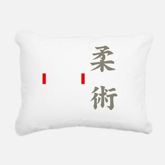 jj white Rectangular Canvas Pillow