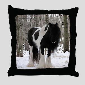 Novel Winter Sq Throw Pillow