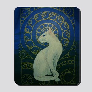 white cat 8X11 Mousepad