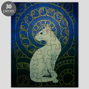 white cat 8X11 Puzzle