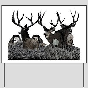 Monster buck deer Yard Sign