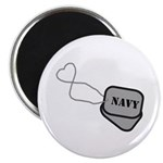 Navy Heart Dog Tags Magnet