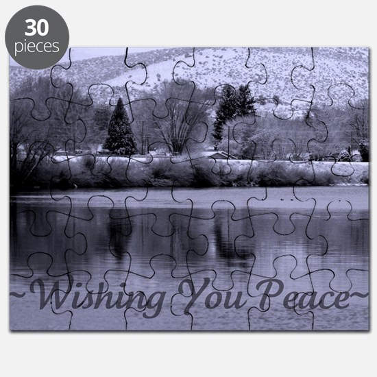 Wishing You Peace Greeting Card Puzzle