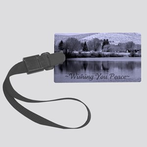 Wishing You Peace Greeting Card Large Luggage Tag