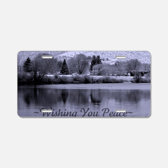Wishing You Peace Greeting  Aluminum License Plate