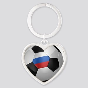 socc_big_russia Heart Keychain