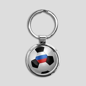 socc_big_russia Round Keychain