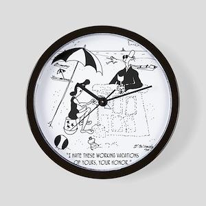 7454_law_cartoon Wall Clock