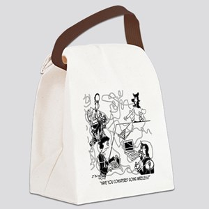 8340_court_reporter_cartoon Canvas Lunch Bag