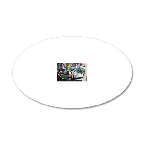 toystore02blargeframeprint28 20x12 Oval Wall Decal & American Badass Wall Decals - CafePress