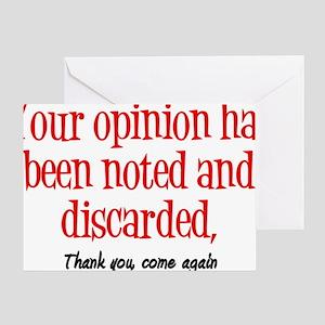 Opinion2 Greeting Card