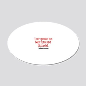 Opinion2 20x12 Oval Wall Decal
