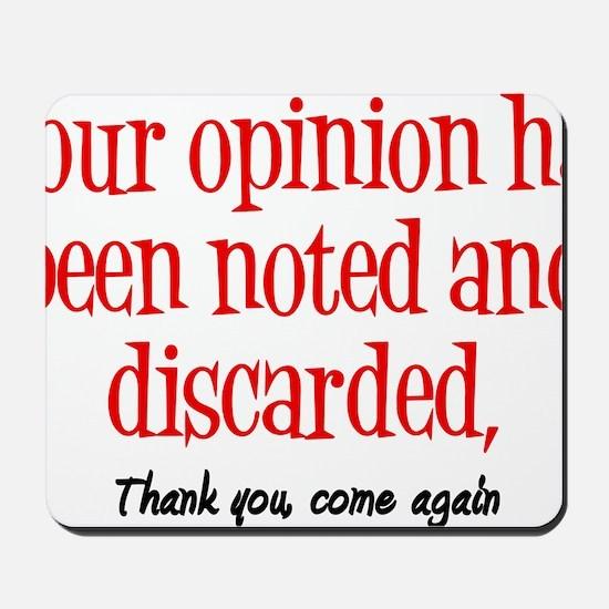 Opinion2 Mousepad