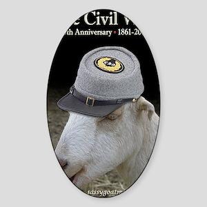 Ruby Civil War Anniversary Journal Sticker (Oval)