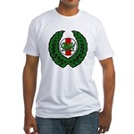 Midrealm Laurel/MK badge Fitted T-Shirt