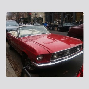 1968 Mustang GT/A Diagonal View Throw Blanket
