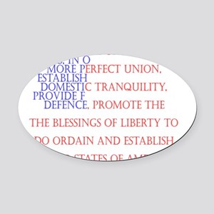 Constitution Oval Car Magnet