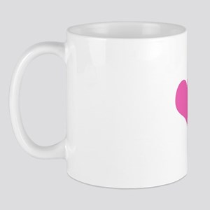 I Love Bald Guys (Pink Heart) Mug