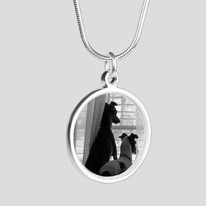 MPwindowsized Silver Round Necklace