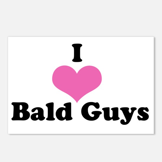 I Love Bald Guys (black l Postcards (Package of 8)