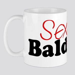 Sexy Bald Guy (black letters) Mug