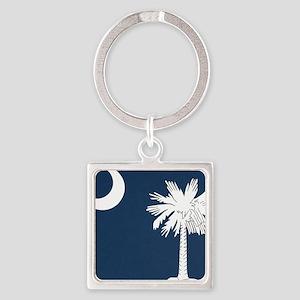 South_Carolina_state_flag Square Keychain