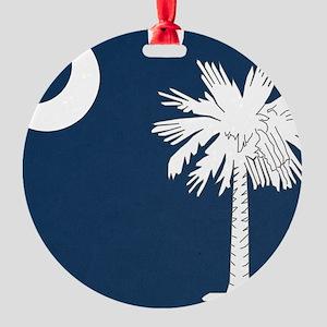 South_Carolina_state_flag Round Ornament