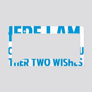 twoWishes1D License Plate Holder