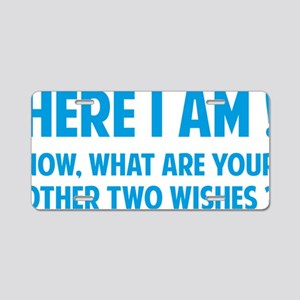 twoWishes1D Aluminum License Plate