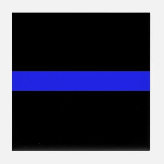 Police Thin Blue Line Tile Coaster