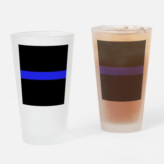 Police Thin Blue Line Drinking Glass