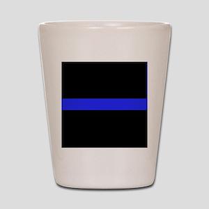 Police Thin Blue Line Shot Glass