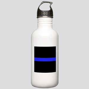 Police Thin Blue Line Water Bottle