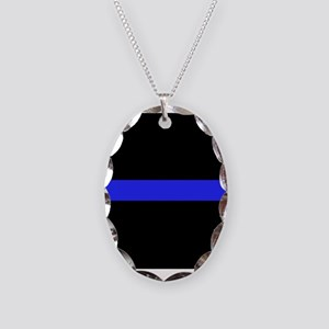Police Thin Blue Line Necklace