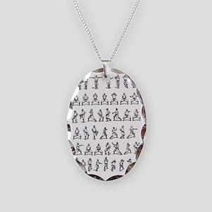 kungfu004 Necklace Oval Charm