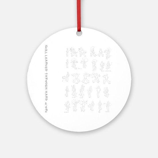 kungfu003 Round Ornament