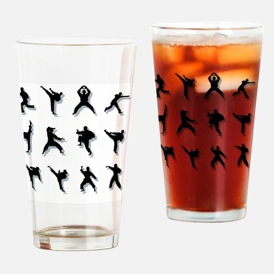 kungfu005 Drinking Glass
