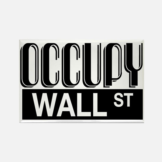 Occupy Wall Street Rectangle Magnet