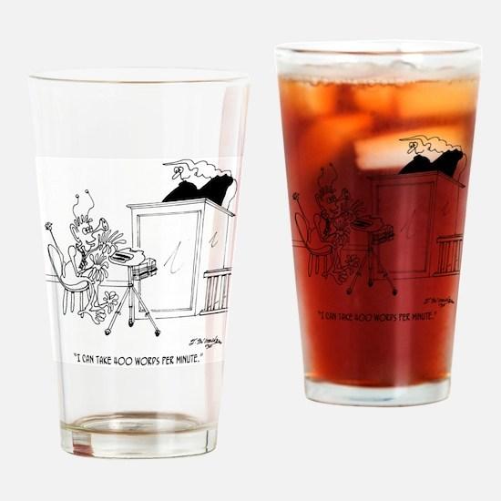 6611_court_reporter_cartoon Drinking Glass