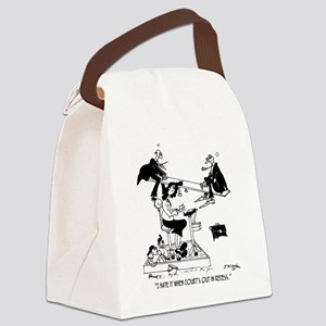 7494_court_cartoon Canvas Lunch Bag
